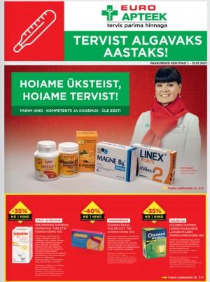 EUROAPTEEK - Jaanuari kliendileht (01.01.2021 - 31.01.2021)